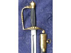 5-Ball Infantry Officer's Sword (Spadroon) 1780s-1800