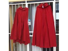 Cotton Cape - Dark Red