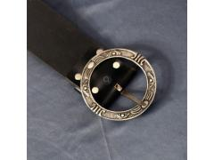 Pirate Baldric Belt - Black Leather